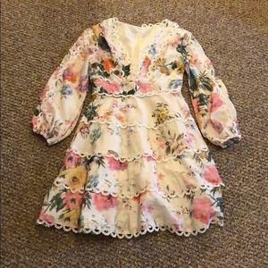 Chicwish Dresses - Chicwish Floral Long Sleeve Mini Dress